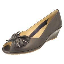 Zapatos de tacón de mujer Peep Toes de piel