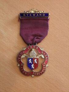 Royal Masonic Benevolent Inst - Steward's Jewel 1954 RMBI