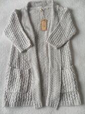 EX Fat Face Hepburn Natural Medium Knit Acrylic Blend Open Neck Cardigan 6 - 18 8