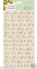 Feuille de 120 papermania alphabet & numéro stickers from the botanicals gamme