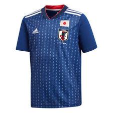 Maillots de football des sélections nationales bleus japon longueur manches manches courtes