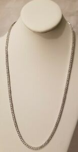 925 sterling silver tennis zirconia chain 26 inches long and 3 mm wide. unisex