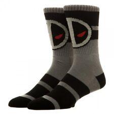 Marvel Deadpool Crew Socks (Grey/Black/Red) Unisex Athletic Socks -FactorySealed