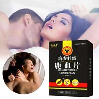 12 Tablets Sea Cucumber Oyster Deer Blood Tablet Sexual Enhancement Male Pills