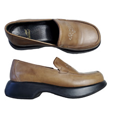"""Dansko Womens Comfort Shoes Size 38 US 7.5-8 Slip On Clogs 1.5"""" Brown Leather"""