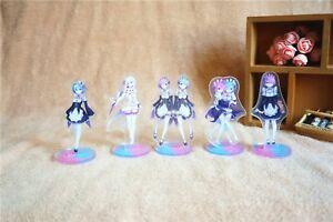 Re Zero Emilia Rem Ram Anime Acrylic Stand Figure Collection
