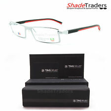 TAG HEUER AUTOMATIC RIMMED OPTICAL GLASSES FRAME SILVER BLACK RED 0803 002 54
