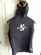 SCUBAPRO .5/2.5MM TPF 6 MENS XXL BLACK HOODED WET SUIT VEST SCUBA DIVING SNORKEL