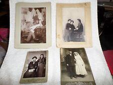 1880s+ 4 Cabinet Cards Russian Bride Grandpa Victorian Parlor Arthur Rubenstein?