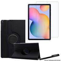 """Housse Etui Noir pour Samsung Galaxy Tab S6 Lite 10.4"""" P610+ Vitre de protection"""