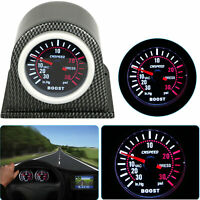 2″ 52mm Auto Car LED PSI Pressure Vacuum Turbo Boost Pointer Gauge & Pod Holder