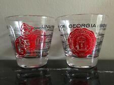 Vintage 1960 UNIVERSITY OF GEORGIA 1941-1959 BOWL Games Glass Set of 2