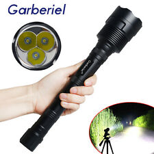 Garberiel 48000 Lumens CREE LED XML 3x T6 Tactical Flashlight Torch Super Bright