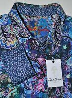 Robert Graham Paisley Shirt Vibrant Multi-Color Contrast Cuffs $198