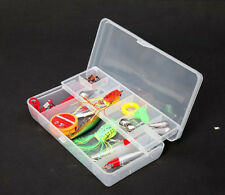 Waterproof Fishing Lure Bait Hook Tackle Storage Box Double Layer Case Container