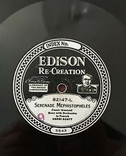 "RARE 78RPM 10"" EDISON RE-CREATION  82147 HENRI SCOTT SERENADE MEPHISTOPHELES"