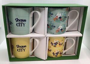 Shaun The Sheep - Shaun In The City 4 China Mugs Boxed