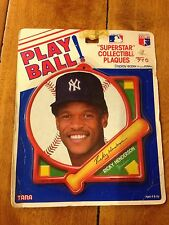 PLAYBALL SUPERSTAR COLLECTIBLE MLB PLAQUE RICKY HENDERSON NEW YORK YANKEES