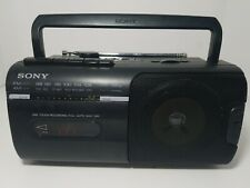 SONY CFM-10 Portable Mini Boombox AM/FM Cassette Player/Recorder AC/DC Tested