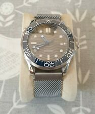 Mens Seamaster 007 Homage Watch Bond Sterile Blue and Grey waves