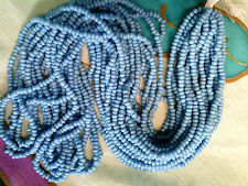 Vintage 1 HANK TURQUOISE BLUE OLD VENETIAN GLASS SEED BEADS LQQK #110209ee