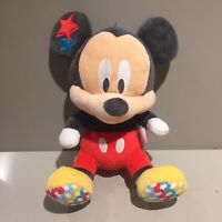 Gorgeous Disney MICKEY MOUSE Baby & Toddler Very Soft Plush & Rattle Comforter