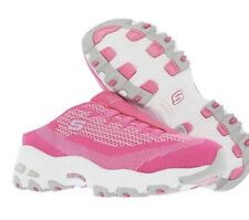 Skechers D'Lites A New Leaf Womens  Pink Sporty Wedge Sneaker Mules Shoes 6M