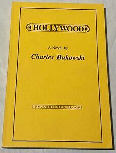 Charles Bukowski rare Uncorrected Proof HOLLYWOOD