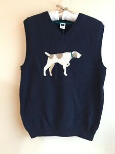 NWT Janie & Jack size 8 Boy Dog Sweater Vest Blue