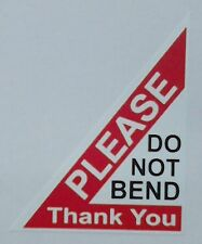 PLEASE DO NOT BEND Labels Stickers 40x50mm Laser Printed - 96 Stickers