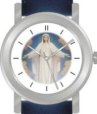 """Virgin Mary"" Is  Inspirational Image on Dial of the Unisex Watch"