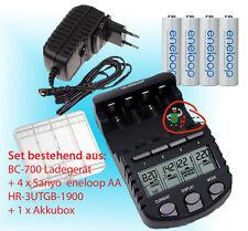 BC700 Schnell-Ladegerät + 4 x Panasonic Eneloop AA Akku 1,2V/1900mAh +Akkubox