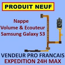 ✖ NAPPE BOUTONS VOLUME ECOUTEUR SAMSUNG GALAXY S3 SIII i9300 ✖ FLEX RIBBON ✖