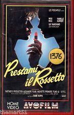 Prestami il Rossetto (1986) VHS AVO film 1a Ed. Miou Miou Diane Kurys