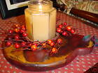 Primitive  Wood Jar Candle Holder Tray