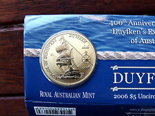 2006 400th Anv of DUYFKEN EXPLORATION of AUST  $5 uncirculated coin