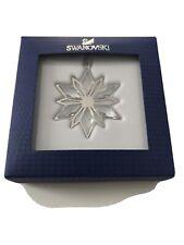 Swarovski Crystal Christmas Ornament Silver Star 5064261 Nib 2014