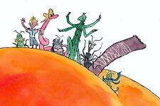 Roald Dahl James y el melocotón gigante Vinilo de pared Arte de 60cm de ancho