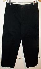 New Wot Boys Lands End Slacks Pants Size 18 Black 25 Inch Inseam Waist Adjusters