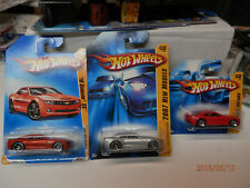 HOT WHEELS camaro set of 3 2007 concept long and short cards and 2010 ss
