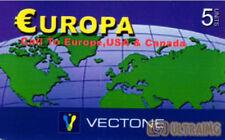 3457 SCHEDA TELEFONICA INTERNAZIONALE USATA EUROPA VECTONE 5 10/2006
