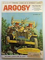 Vintage ARGOSY Men's Magazine October 1958 Jack Dumas Deer Hunters Cover 312