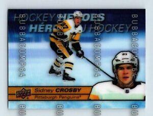 2021-22 UD TIM HORTONS SIDNEY CROSBY HOCKEY HEROES HOLOGRAM INSERT HOCKEY CARD
