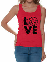 LOVE Volleyball Women's Tank Tops Volleyball Gifts Game Day