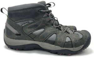 Keen Women's Gray Purple Leather Hiking Trail Outdoor Shoes Sandals Size 7.5