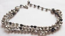 Glass Silver Retro Costume Jewellery (1940s)