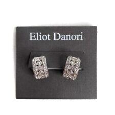 Eliot Danori Womens Faux Diamond Silver Colored Round Cuff Earrings New