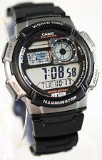 Reloj Nuevo Casio AE-1000W-1BV Mapa Digital 10 Años Batería 5 Alarmas mundial