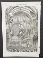 Illustrated London News Single-Page A2#96 Sep. 1864 Opening of Crystal Palace