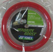 YONEX Badminton Hybrid String Aerobite Boost 200m Coil BGABBT-2, Gray/Red Color